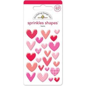 Doodlebug Sprinkles Adhesive Matte Enamel Dots 45/Pkg Love Assortment
