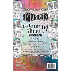 Dyan Reaveley's Dylusions Coloring Sheets #3 5X8 2 Each Of 12 Designs