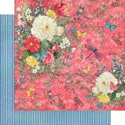 Graphic 45 Flutter Double-Sided Cardstock 12X12 Dazzling