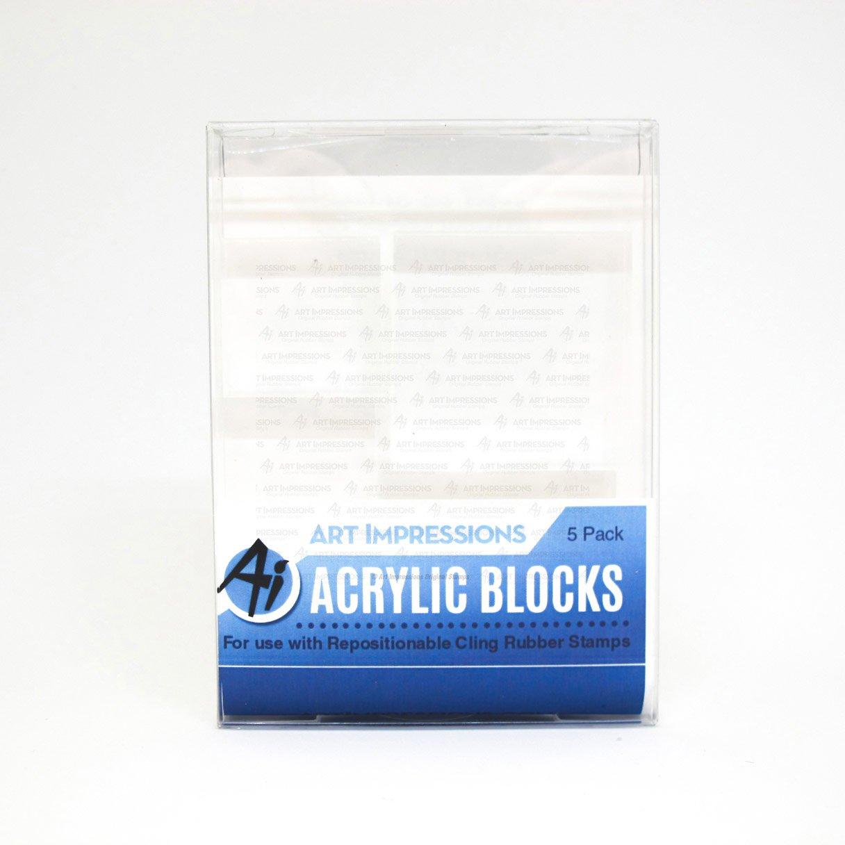 Art Impressions: Acrylic Block 5 Pack (Variety)