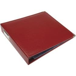 We R Classic Leather D-Ring Album 12X12 Wine