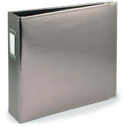 We R Classic Leather D-Ring Album 12X12: Silver