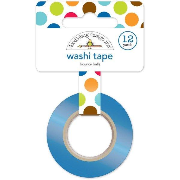 Doodlebug Washi Tape 15mmx12yd Bouncy Balls