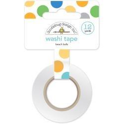Doodlebug Washi Tape 15mmX12yd Beach Balls