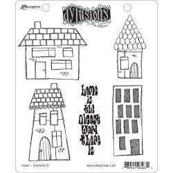 Dyan Reaveley's Dylusions Cling Stamp Collections 8.5X7 Home