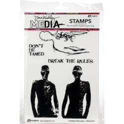 Dina Wakley Media Cling Stamps 6X9 Scribbled Silhouettes