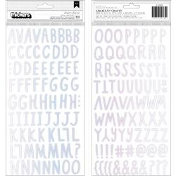 Crate Paper Hooray Thickers Stickers 163/Pkg Surprise Alpha/Holographic Foam