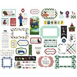 Echo Park Down On The Farm Cardstock Die-Cuts 33/Pkg Frames & Tags