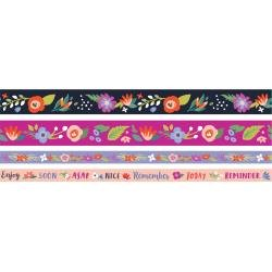 We R Washi Tape Rolls 4/Pkg Dark Floral