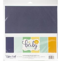 Echo Park Double-Sided Solid Cardstock 12X12 6/Pkg Hello Baby Boy