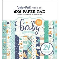 Echo Park Double-Sided Paper Pad 6X6 24/Pkg Hello Baby Boy
