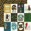 Echo Park Animal Safari Double-Sided Cardstock 12X12 3X4 Journaling Cards