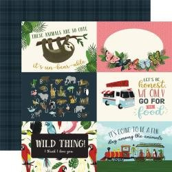 Echo Park Animal Safari Double-Sided Cardstock 12X12 4X6 Journaling Cards