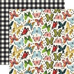 Echo Park Animal Safari Double-Sided Cardstock 12X12 Butterfly Kisses