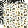 Echo Park Animal Safari Double-Sided Cardstock 12X12 Zoo Letters