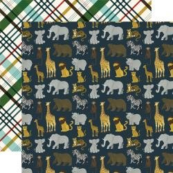 Echo Park Animal Safari Double-Sided Cardstock 12X12 Safari