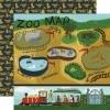 Echo Park Animal Safari Double-Sided Cardstock 12X12 Zoo Map