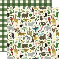 Echo Park Animal Safari Double-Sided Cardstock 12X12 It's A Zoo