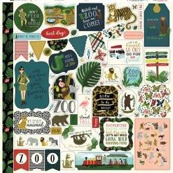 Echo Park Animal Safari Cardstock Stickers 12X12 Elements