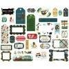 Echo Park Animal Safari Cardstock Die-Cuts 33/Pkg Frames & Tags