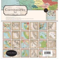 Carta Bella Collection Kit 12X12 Cartography No.1
