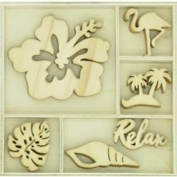 KAISERCraft Themed Mini Wooden Flourishes 30/Pkg Relax