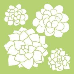 KAISERCraft Designer Template 6X6 Succulents