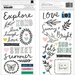CP Maggie Holmes Sunny Days Thickers Stickers Summertime Phrase & Icons/Puffy