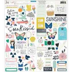 CP Maggie Holmes Sunny Days Cardstock Stickers W/Iridescent Accents