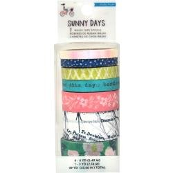 CP Maggie Holmes Sunny Days Washi Tape 7/Pkg Printed & Iridescent Finish
