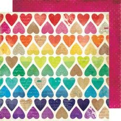 AC Vicki Boutin Color Kaleidoscope Dbl-Sided Cardstock 12X12 Paper Hearts