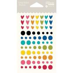 JilliBean Soup Rainbow Roux Epoxy Stickers 69/Pkg
