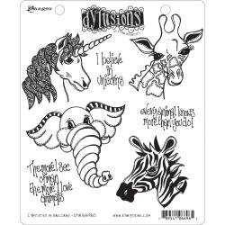 Dyan Reaveley's Dylusions Cling Stamp Collections 8.5X7 I Believe in Unicorns