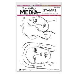 Dina Wakley Media Cling Stamps 6X9 Lovely Women