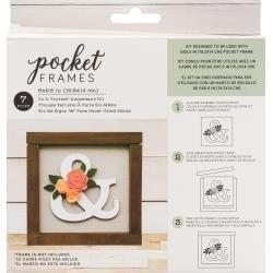 American Crafts Pocket Frames Insert Kit 6X5.5 7/Pkg Ampersand W/Insert