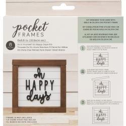 American Crafts Pocket Frames Insert Kit 6X5.5 8/Pkg Oh Happy Days W/Insert
