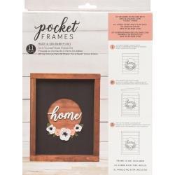 American Crafts Pocket Frames Insert Kit 8X10 11/Pkg Home Wreath W/Insert