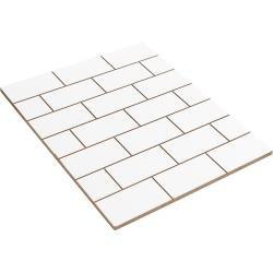 American Crafts Pocket Frames Reversible Insert 8X10 Shiplap/Brick