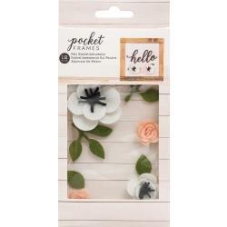 American Crafts Pocket Frames Felt Flowers 12/Pkg Style #2