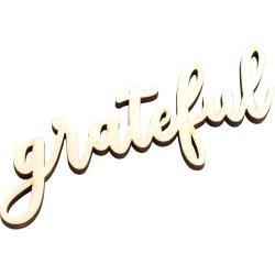 American Crafts Pocket Frames Laser Cut Words Grateful