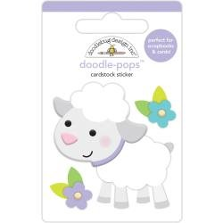 Doodlebug Doodle-Pops 3D Stickers Lamby