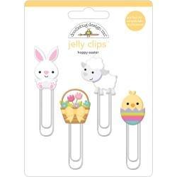 Doodlebug Jelly Clips 4/Pkg Hoppy Easter