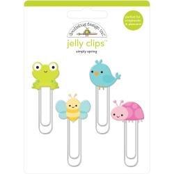 Doodlebug Jelly Clips 4/Pkg Simply Spring