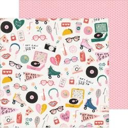 Crate Paper All Heart Double-Sided Cardstock 12X12 Cute Stuff