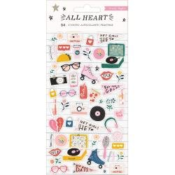 Crate Paper All Heart Puffy Stickers 54/Pkg