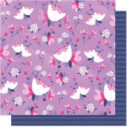 AC Shimelle Sparkle City Double-Sided Cardstock 12X12 Fresh Flowers