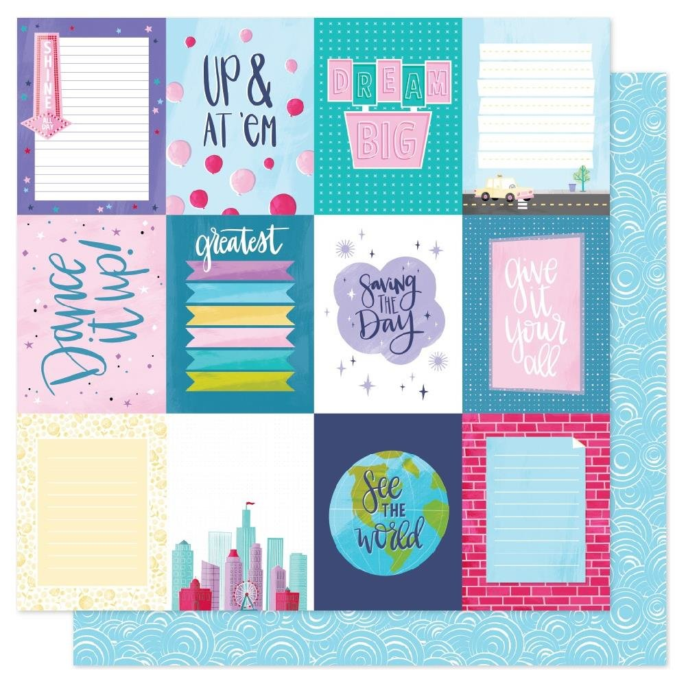 AC Shimelle Sparkle City Double-Sided Cardstock 12X12 Dream Big