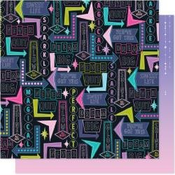 AC Shimelle Sparkle City Double-Sided Cardstock 12X12 Shine All Day