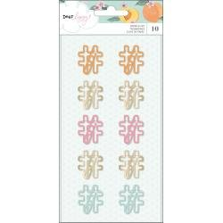 AC Dear Lizzy It's All Good Shaped Paper Clips 10/Pkg Hashtag
