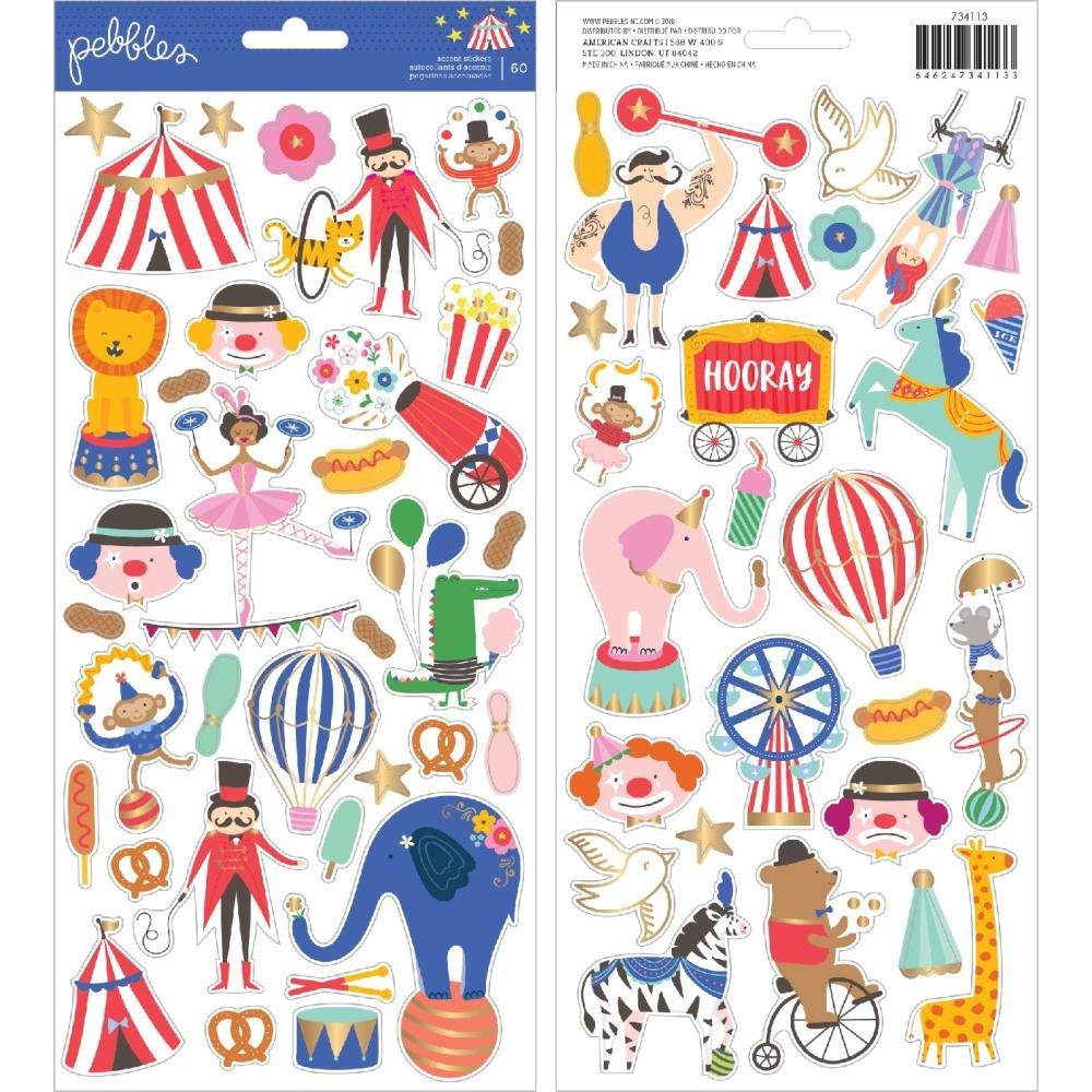 PB Big Top Dreams Cardstock Stickers 6X12 70/Pkg Icons W/Gold Foil Accents